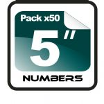 "5"" Race Numbers - 50 pack"
